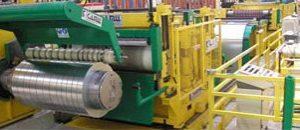 CNC slitting of panel radiator steel coils